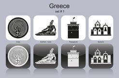 Ikony Grecja ilustracji