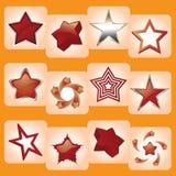 ikony gwiazda ilustracja wektor