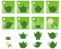 ikony herbaciane royalty ilustracja