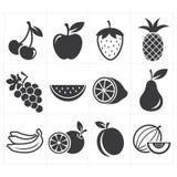 Ikony ikony owoc Fotografia Stock