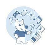 Ikony ilustracja z psem Zdjęcie Stock