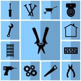 Ikony instrument/Wektorowi secateurs, mieszkanie Obrazy Royalty Free