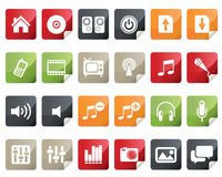ikony internetów lab online setu zakupy etykietka Royalty Ilustracja