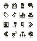 ikony internetów sieć Obrazy Stock