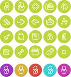 ikony internetów równiny ustalona majcherów strona internetowa Zdjęcia Stock