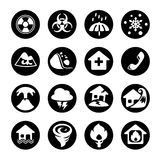 Ikony katastrofa w czerni Obraz Royalty Free