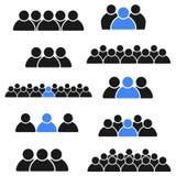 Ikony kolekcja, grupa społeczna ludzie ilustracja wektor