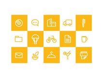 ikony kolor żółty Obraz Royalty Free