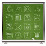 ikony komunikacyjny telefon komórkowy Fotografia Stock
