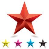 ikony kształta gwiazdy sieć Obrazy Royalty Free