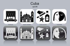 Ikony Kuba ilustracja wektor