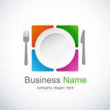 ikony loga restauracja Fotografia Stock