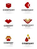 ikony loga set Fotografia Stock