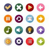 Ikony lub guziki ustawiający dla telefonu zastosowania ilustracji