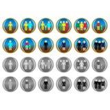 Ikony ludzie royalty ilustracja