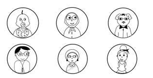 Ikony ludzie różne grupy wiekowe zdjęcia stock