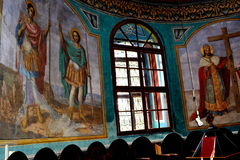 Ikony malować Nicolae Grigorescu Podwórze monaster Zamfira Zdjęcia Royalty Free