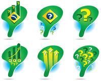 Ikony mapa Brazylia Zdjęcia Royalty Free
