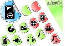 ikony medialne Obraz Royalty Free