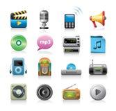 ikony medialne Obrazy Stock