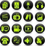 ikony medialne ilustracji