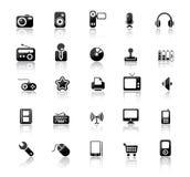 ikony medialne Zdjęcia Stock