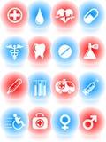 ikony medyczne royalty ilustracja