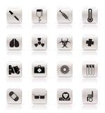 ikony medyczne Zdjęcia Royalty Free