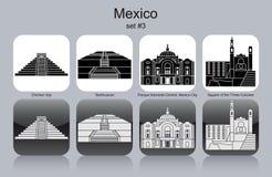 Ikony Meksyk ilustracja wektor