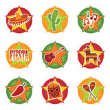 ikony meksykańskie royalty ilustracja