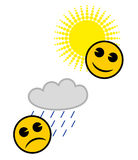 ikony meteorologia Obraz Royalty Free
