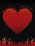 ikony miłości muzyki wektor Zdjęcia Stock