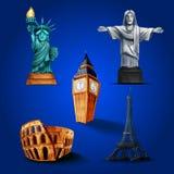Ikony miasto Ilustracja Wektor