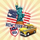 Ikony miasto nowy York Ilustracja Wektor