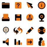 ikony miejsca sieć Zdjęcia Stock