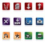 ikony miejsca sieć Zdjęcia Royalty Free