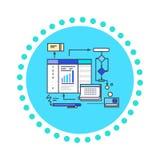 Ikony mieszkania stylu projekta działania proces Zdjęcie Royalty Free