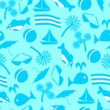 Ikony morski odtwarzanie wektor bezszwowy wzoru royalty ilustracja