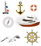 ikony morze royalty ilustracja