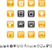 ikony multimedialne Obrazy Stock