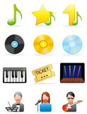 ikony muzyczne Zdjęcia Royalty Free