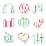 ikony muzyczne Obrazy Royalty Free