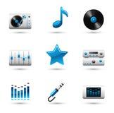 ikony muzyczne Ilustracja Wektor