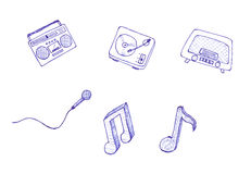 ikony muzyczne Zdjęcie Royalty Free