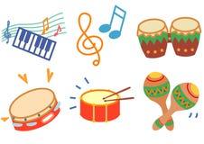 ikony muzyka Zdjęcie Royalty Free