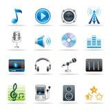 ikony muzyka Zdjęcie Stock