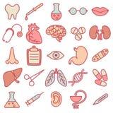 Ikony na temacie medycyna Zdjęcia Stock