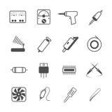 Ikony naprawy elektroniczny narzędzie Obraz Stock
