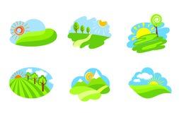 ikony natura ilustracji