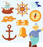 ikony nautyczne Royalty Ilustracja